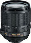 Nikon AF-S DX NIKKOR 18-105mm f/3.5-5.6G ED VR lens. Courtesy of Nikon, with modifications by Zig Weidelich.