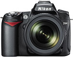 Nikon D90 digital SLR. Courtesy of Nikon, with modifications by Zig Weidelich.