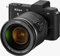 The Nikon V1 compact system camera. Photo provided by Nikon Inc.