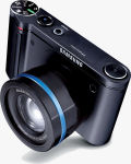 Samsung's NV7 digital camera. Courtesy of Samsung, with modifications by Michael R. Tomkins.