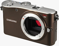 Samsung's NX100 digital camera. Photo provided by Samsung Electronics Co. Ltd.