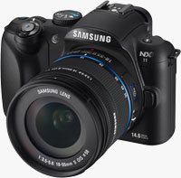 Samsung's NX11 digital camera. Photo provided by Samsung Electronics Co. Ltd.