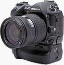 Olympus' E-1 Digital SLR. Copyright © 2003, The Imaging Resource. All rights reserved.