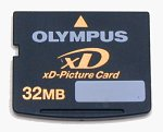 Olympus's 32MB xD-Picture Card. Copyright © 2002, The Imaging Resource.  All rights reserved.