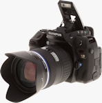 Olympus' E-3 digital SLR. Copyright � 2007, The Imaging Resource. All rights reserved.
