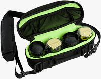 Lensbaby's System Bag will fit the Composer (with or without Tilt Transformer), Control Freak, Muse, or Scout optics. Photo provided by Lensbaby Inc.