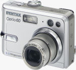 Pentax's Optio60 digital camera. Courtesy of Pentax, with modifications by Michael R. Tomkins.