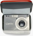 Pentax's Optio S digital camera. Courtesy of Pentax, with modifications by Michael R. Tomkins.