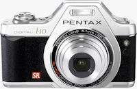 Pentax's Optio I-10 Classic Silver. Photo provided by Hoya Corp.