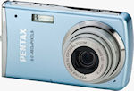 Pentax' Optio M50 digital camera. Courtesy of Pentax, with modifications by Michael R. Tomkins.