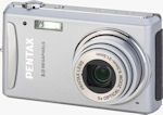 Pentax's Optio V20 digital camera. Courtesy of Pentax, with modifications by Michael R. Tomkins. Click for our Pentax Optio V20 preview!