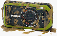 Pentax's Optio W90 digital camera. Photo provided by Pentax Imaging Co.