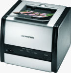 Olympus' P-11 photo printer. Courtesy of Olympus, with modifications by Michael R. Tomkins.