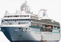 The m/s Paul Gauguin. Photo provided by Paul Gauguin Cruises.