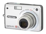 Pentax's Optio A10 digital camera. Courtesy of Pentax, with modifications by Michael R. Tomkins.