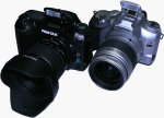 Pentax's *ist D digital SLR. Copyright © 2003, The Imaging Resource. All rights reserved.