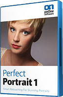 Perfect Portrait's product packaging. Click here to visit the onOne Software website!
