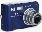 HP's Photosmart R607 digital camera, BMW Williams F1 Team Special Edition. Courtesy of HP, with modifications by Michael R. Tomkins.