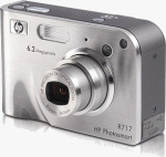 HP's Photosmart R717 digital camera. Courtesy of HP, with modifications by Michael R. Tomkins.