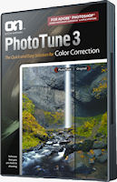 PhotoTune 3 product packaging. Photo provided by onOne Software. Inc.