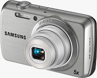 Samsung's PL20 digital camera. Photo provided by Samsung Electronics Co. Ltd.