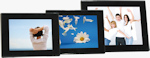 JOBO's PLANO 7, 8 and 10 digital picture frames. Photo provided by Jobo AG.