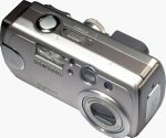 Samsung's Digimax V5 digital camera. Copyright © 2004, The Imaging Resource. All rights reserved.