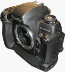 Fujifilm's FinePix S3 Pro digital SLR. Copyright © 2004, The Imaging Resource. All rights reserved.