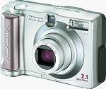 Canon's PowerShot A20 digital camera. Courtesy of Canon.