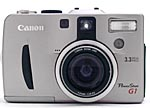 Canon's PowerShot G1 digital camera, front view.  Copyright (c) 2000, The Imaging Resource.  All rights reserved.