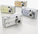 Canon's PowerShot A400 digital camera in all four colors. Courtesy of Canon, with modifications by Michael R. Tomkins.