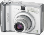 Canon's PowerShot A520 digital camera. Courtesy of Canon, with modifications by Michael R. Tomkins.