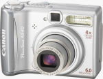 Canon's PowerShot A540 digital camera. Courtesy of Canon, with modifications by Michael R. Tomkins.