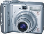 Canon's PowerShot A560 digital camera. Courtesy of Canon, with modifications by Michael R. Tomkins.