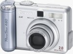 Canon's PowerShot A60 digital camera. Courtesy of Canon, with modifications by Michael R. Tomkins.