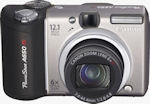 Canon's PowerShot A650 IS digital camera. Courtesy of Canon, with modifications by Michael R. Tomkins.