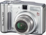 Canon's PowerShot A700 digital camera. Courtesy of Canon, with modifications by Michael R. Tomkins.