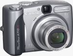 Canon's PowerShot A710 digital camera. Courtesy of Canon, with modifications by Michael R. Tomkins.