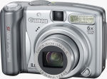 Canon's PowerShot A720 IS digital camera. Courtesy of Canon, with modifications by Michael R. Tomkins.