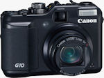Canon's PowerShot G10 digital camera. Courtesy of Canon, with modifications by Michael R. Tomkins.