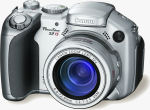 Canon's PowerShot S2 IS digital camera. Courtesy of Canon USA, with modifications by Michael R. Tomkins.