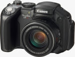 Canon's PowerShot S3 IS digital camera. Courtesy of Canon, with modifications by Michael R. Tomkins.