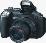 Canon's PowerShot S5 IS digital camera. Courtesy of Canon, with modifications by Michael R. Tomkins.