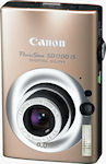 Canon's PowerShot SD1100 IS digital camera. Courtesy of Canon, with modifications by Michael R. Tomkins.
