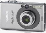 Canon's PowerShot SD400 Digital ELPH. Courtesy of Canon, with modifications by Michael R. Tomkins.