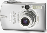 Canon's PowerShot SD500 Digital ELPH. Courtesy of Canon, with modifications by Michael R. Tomkins.