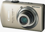 Canon's PowerShot SD880 IS digital camera. Courtesy of Canon, with modifications by Michael R. Tomkins.