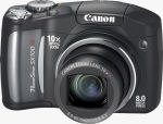 Canon's PowerShot SX100 IS digital camera. Courtesy of Canon, with modifications by Michael R. Tomkins.
