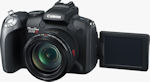 Canon's PowerShot SX10 IS digital camera. Courtesy of Canon, with modifications by Michael R. Tomkins.
