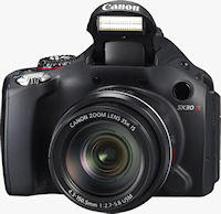 Canon's PowerShot SX30 IS digital camera. Photo provided by Canon USA Inc.